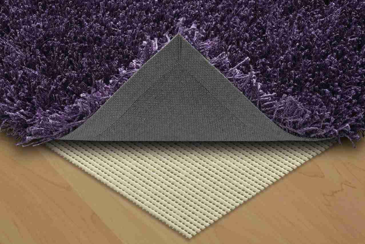 Premium hard floor rug anti slip underlay bewarmer for Floor underlay