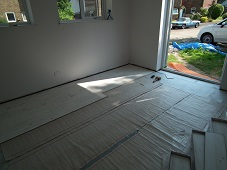 Under laminate heating being installed