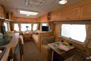 Caravan Interior With Mats