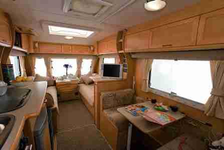 Simple Silverline Caravan Interior 1