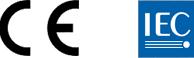 CE and IEC logos