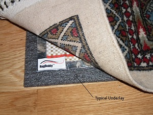 RugBuddy Under Rug Heating with Grey Underlay