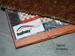 Rug Underlay under RugBuddy
