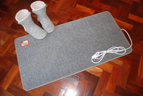 FootBuddy heated mat with slippers (not supplied)
